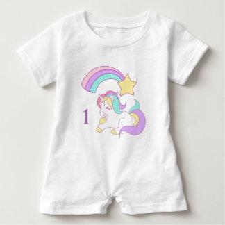 Macacão Para Bebê Bebê de um ano do Romper do bebê do unicórnio