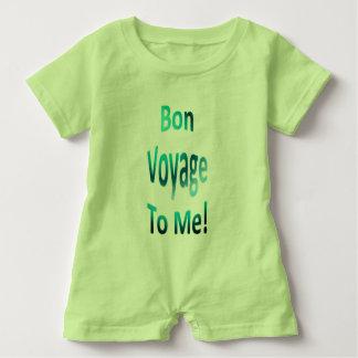 Macacão Para Bebê Bon voyage a mim