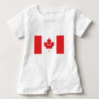 Macacão Para Bebê Cara canadense da folha de bordo