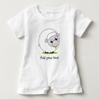 Macacão Para Bebê Carneiros woolly brancos bonitos e peluches do