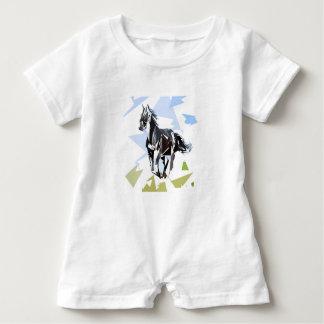 Macacão Para Bebê Cavalo preto