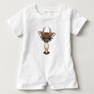 Macacão Para Bebê Cervos Nerdy do bebê que vestem vidros