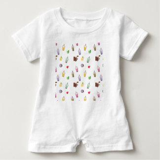 Macacão Para Bebê Chá da bolha de Kawaii