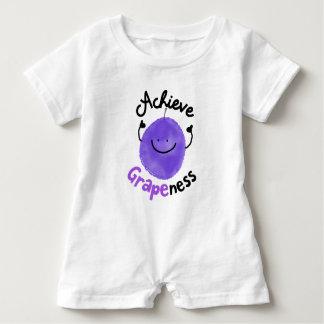 Macacão Para Bebê Chalaça positiva da uva - consiga Grapeness