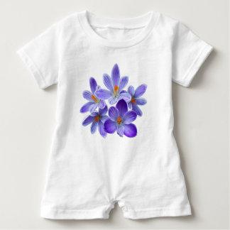 Macacão Para Bebê Cinco açafrões violetas 05,0, cumprimentos do