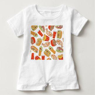 Macacão Para Bebê Colorful Pattern ilustração Jejuas Food