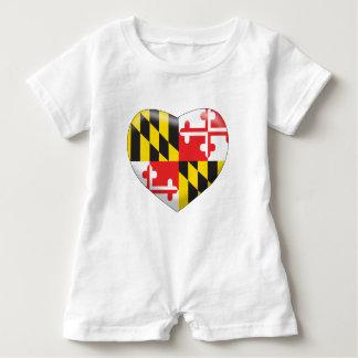 Macacão Para Bebê Coração de Maryland
