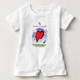Macacão Para Bebê coração principal de Massachusetts, fernandes tony