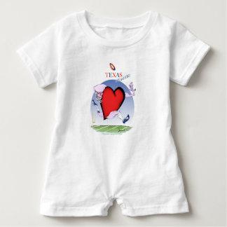 Macacão Para Bebê coração principal de texas, fernandes tony