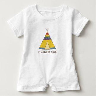 Macacão Para Bebê Cores do arco-íris do Teepee | do orgulho | do