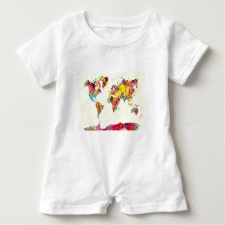 Macacão Para Bebê cores do mapa do mundo