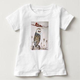 Macacão Para Bebê Coruja de celeiro na caça