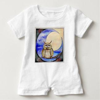 Macacão Para Bebê Coruja de noite