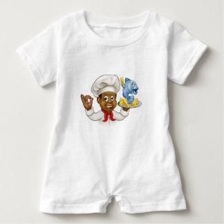 Macacão Para Bebê Cozinheiro chefe do peixe com batatas fritas dos