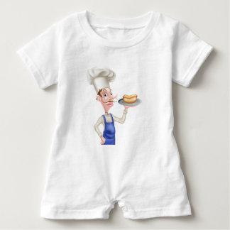 Macacão Para Bebê Cozinheiro chefe dos desenhos animados com