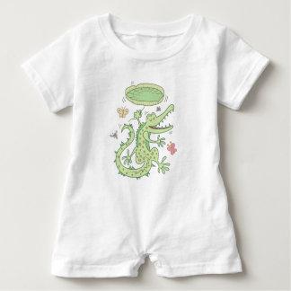 Macacão Para Bebê Crocodilo feliz