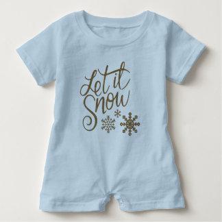 Macacão Para Bebê Deixais lhe para nevar