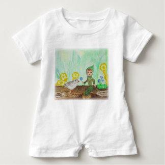 Macacão Para Bebê Design bonito da floresta do Romper do bebê do