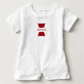 Macacão Para Bebê Design vermelho do logotipo de w do Romper de