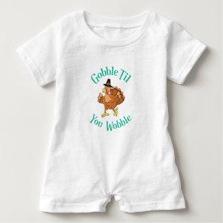 Macacão Para Bebê Devore até que você acção de graças Turquia do