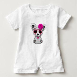 Macacão Para Bebê Dia cor-de-rosa do urso polar do bebê inoperante