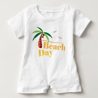 Macacão Para Bebê Dia perfeito da praia do verão