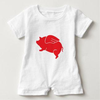 Macacão Para Bebê 🐷 do porco do vôo