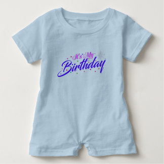 Macacão Para Bebê É meu aniversário