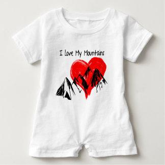 Macacão Para Bebê Eu amo minhas montanhas!
