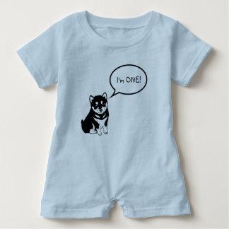 Macacão Para Bebê Eu sou 1 Romper do bebê azul da bolha 2 do