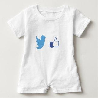 Macacão Para Bebê Facebook Twitter