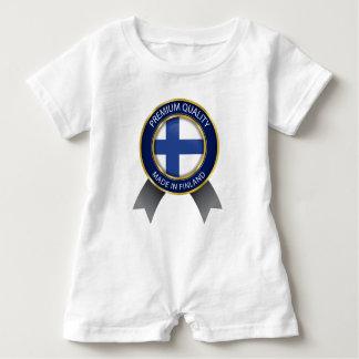 Macacão Para Bebê Feito em Finlandia, bandeira finlandesa