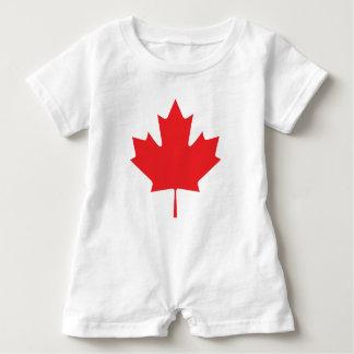 Macacão Para Bebê Folha de bordo canadense