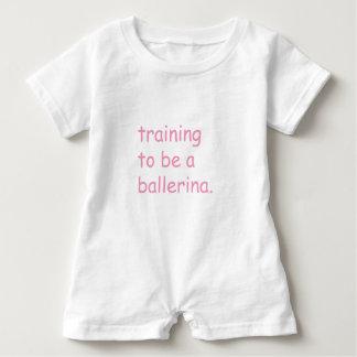 Macacão Para Bebê Formação a ser uma bailarina