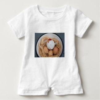 Macacão Para Bebê Galinha & ovos