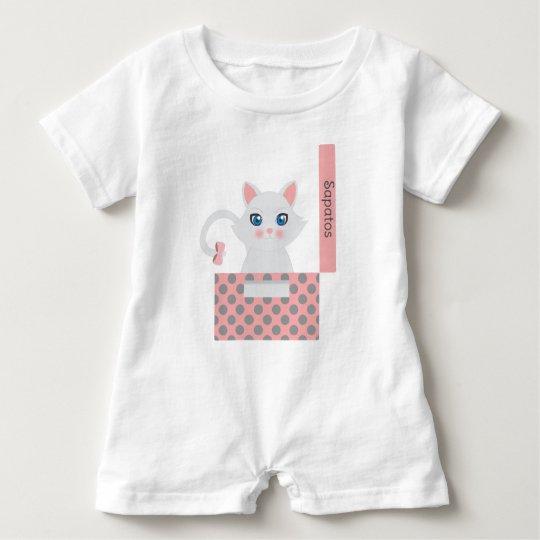 Macacão Para Bebê Gato na caixa