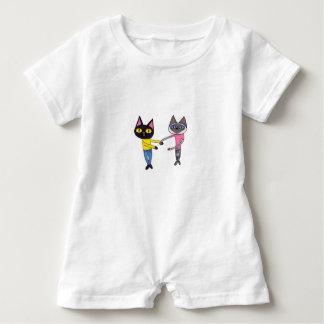 Macacão Para Bebê Gatos de BFFs (bandeja & Chibi)