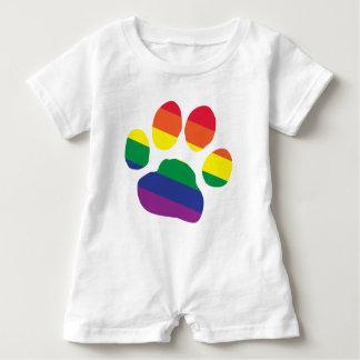 Macacão Para Bebê Gay-Orgulho-Pata-Impressão