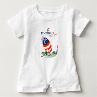 Macacão Para Bebê Golo de campo do futebol, fernandes tony