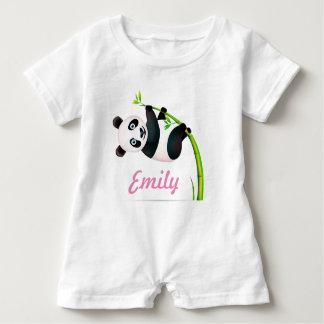 Macacão Para Bebê Haste de bambu de suspensão preto e branco do ramo