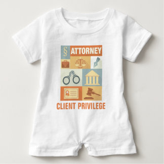 Macacão Para Bebê Icónico profissional do advogado projetado