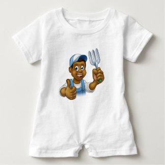 Macacão Para Bebê Jardineiro preto dos desenhos animados