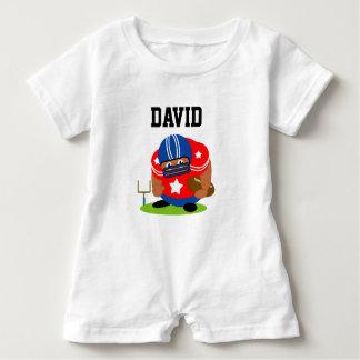 Macacão Para Bebê Jogador de futebol americano bonito que guardara