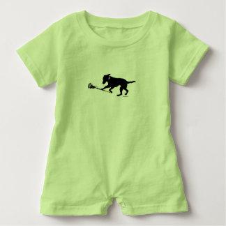 Macacão Para Bebê Laboratório preto que joga o Romper do bebê do
