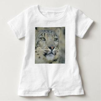 Macacão Para Bebê leopardo de neve