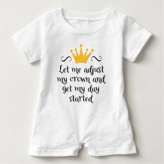Macacão Para Bebê Let me adjust my crown