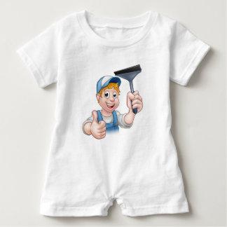 Macacão Para Bebê Líquido de limpeza de janela que guardara o rodo