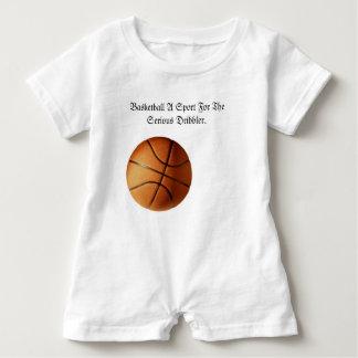 Macacão Para Bebê Logotipo sério do driblador do basquetebol