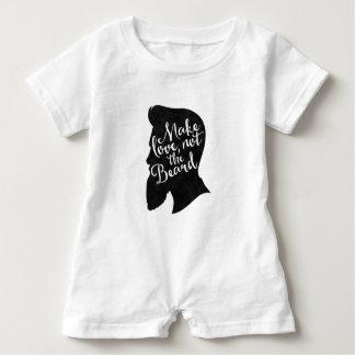 Macacão Para Bebê Make love not the beard - silhueta