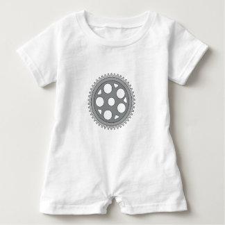 Macacão Para Bebê Manivela do anel do vintage única retro